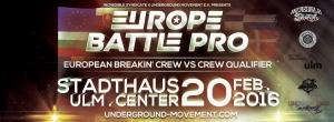 Europe Battle Pro // 2016