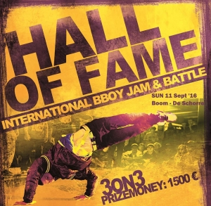 HALL of FAME XX international 3on3 bboying