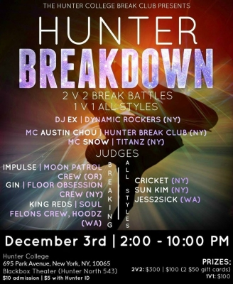 Hunter Breakdown 2016 l Breaking + All Styles Battle