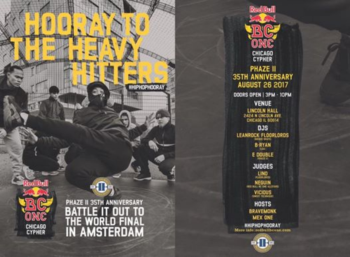 Red Bull BC One Chicago Cypher 2017 poster