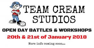 Team Cream Studios Open Day Battles & Workshops!