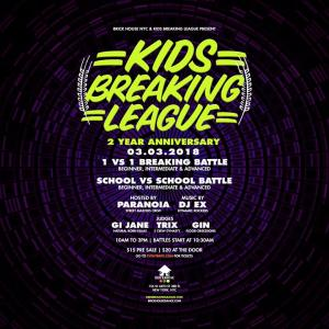 Kids Breaking League 2 Year Anniversary 2018