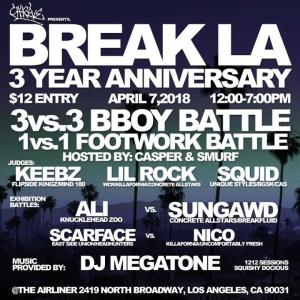 Break LA 3 Year Anniversary 2018