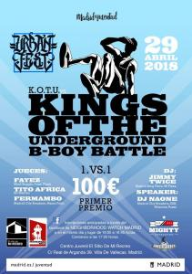 Kings Of The Underground BBoy Battle Urban Fest 2018