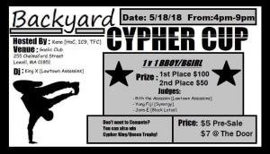 Back Yard Cypher Cup 2018