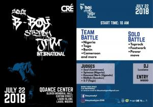 B-boy steady Jam International 2018