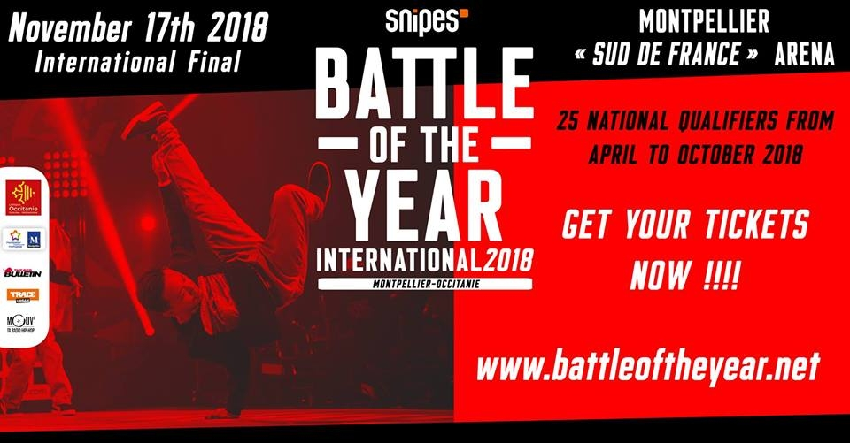 Snipes Battle Of The Year International 2018 poster