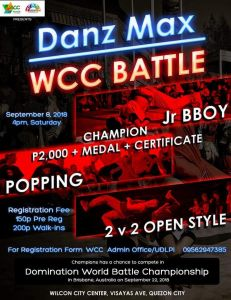 WCC : BBOY/POPPING/OPEN STYLE BATTLE 2018