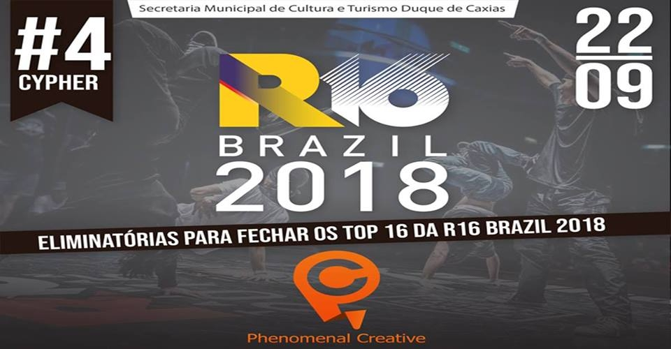 R16 Brazil x Phenomenal Creative / Cypher Marron 2018 poster