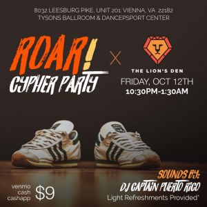 ROAR: The Lion's Den Cypher Party 2018
