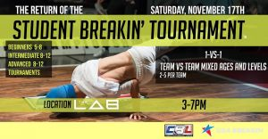 The Return of the: Student Breakin' Tournaments 2018