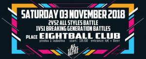 2 vs 2 All Styles Battle + 1 vs 1 Generation Breakin Battles 2018