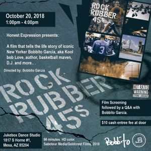 Rock Rubber 45s Mesa Film Premiere + Q&A at The Jukebox Grounds