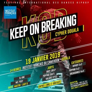 Keep on breaking Cypher Douala 2019