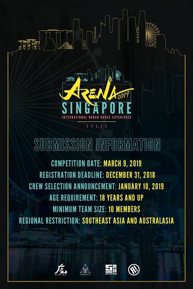 ARENA Singapore Dance Competition 2019 poster