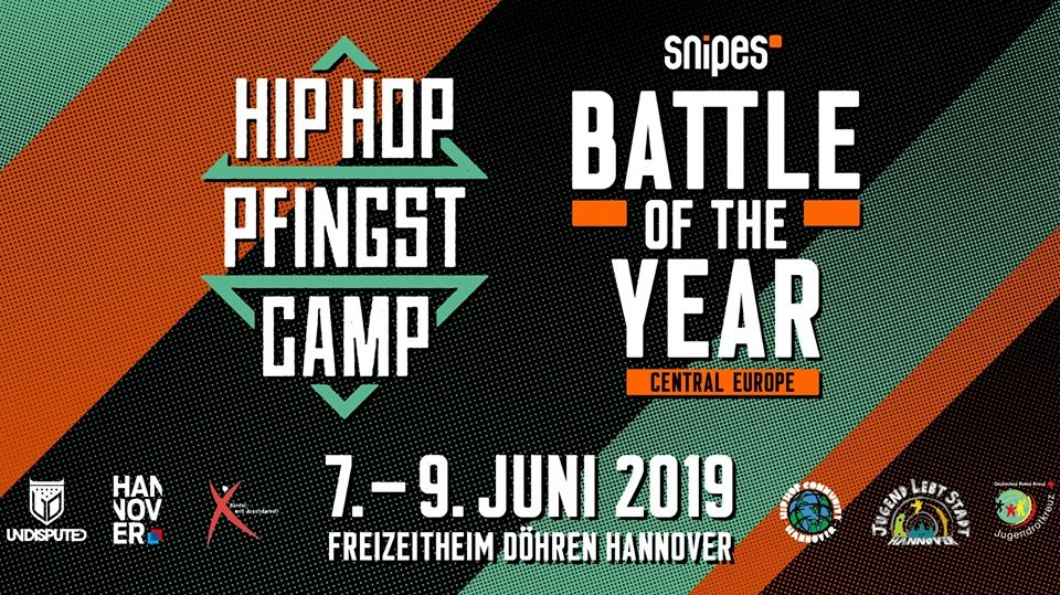 Snipes Battle Of The Year CE x Hip Hop Pfingstcamp 2019 poster