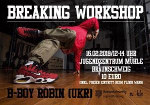 Breaking Workshop mit B-Boy Robin 2019