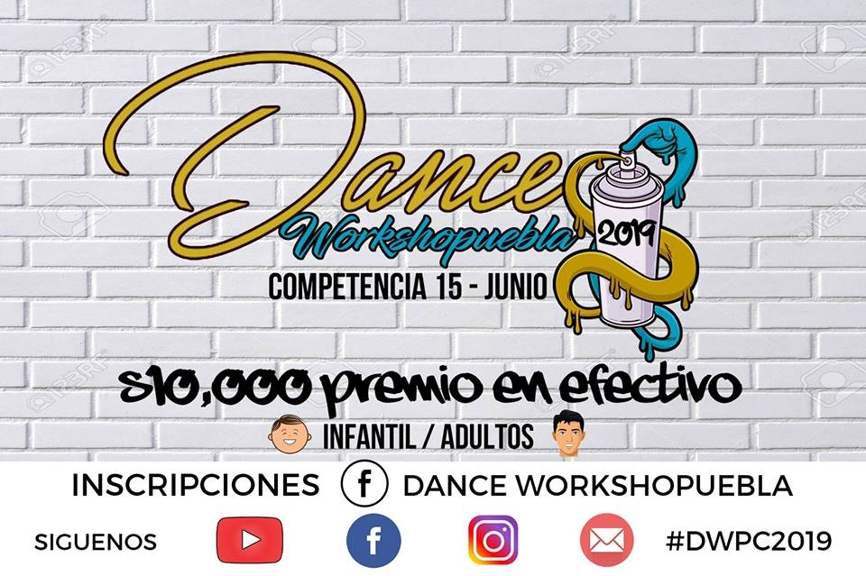 Dance Workshopuebla Competencia 2019 poster