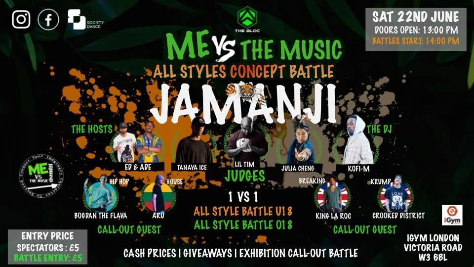 Jamanji | Me Vs the Music | All Styles Concept Battle 2019 poster