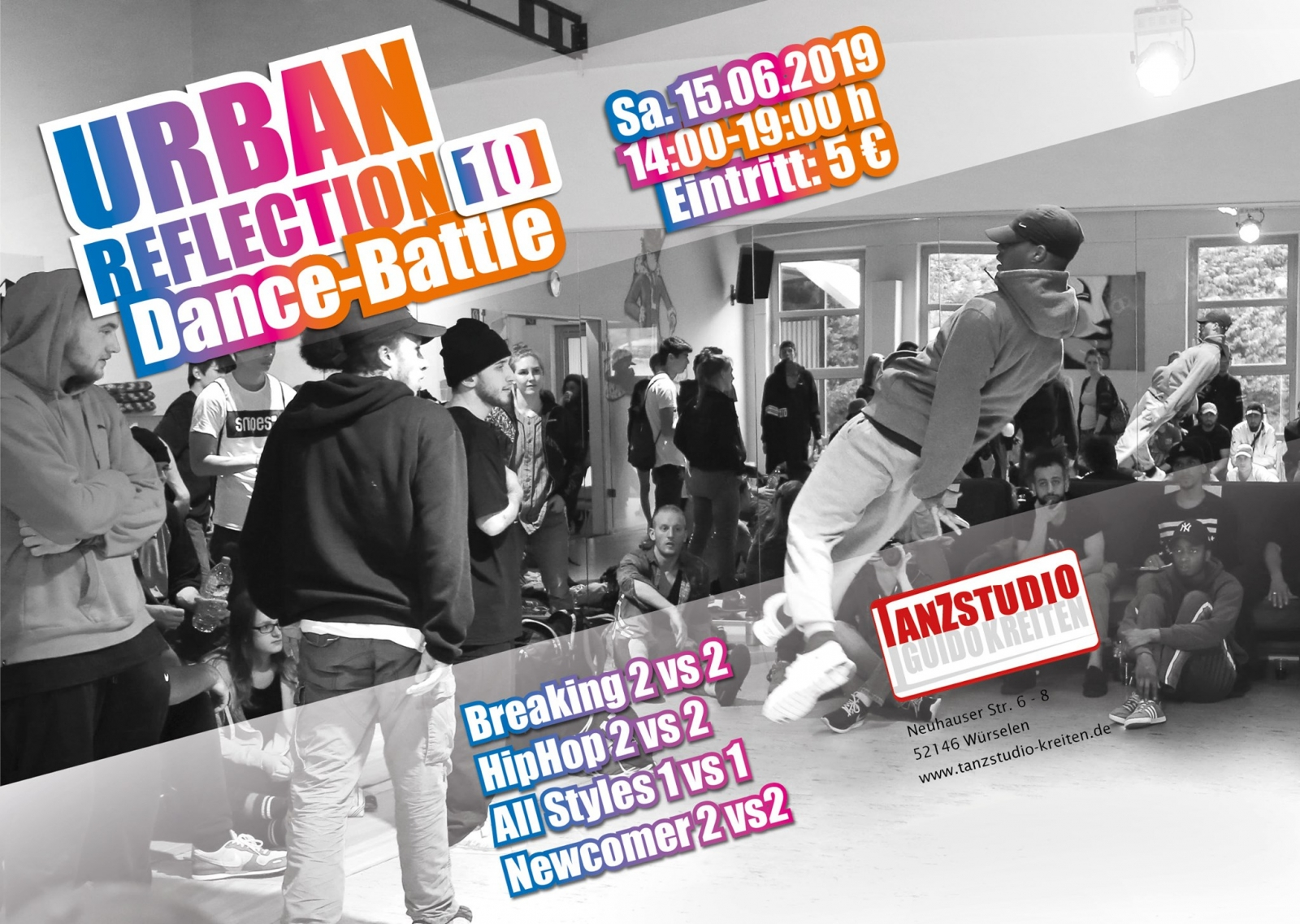Dance Battle Urban Reflection 2019 poster