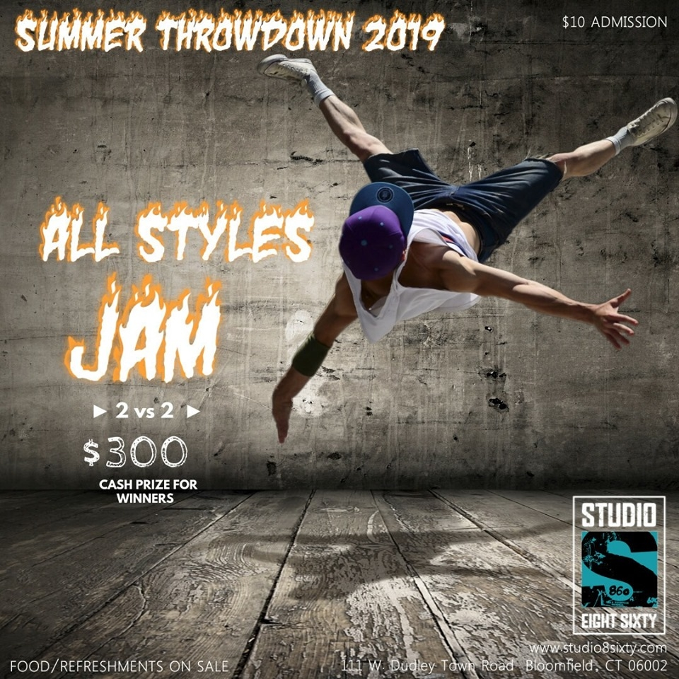 Summer Throwdown 2v2 Allstyles JAM 2019 poster
