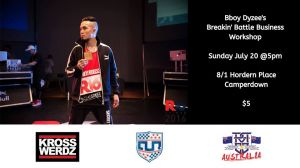 "The ""Breakin' Battle Business"" workshop with Bboy Dyzee 2019"