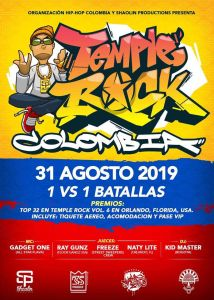 Temple rock calificatoria sur america 2019