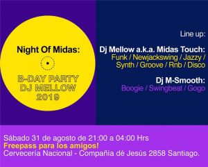 Night Of Midas: Bday Party Dj Mellow 2019