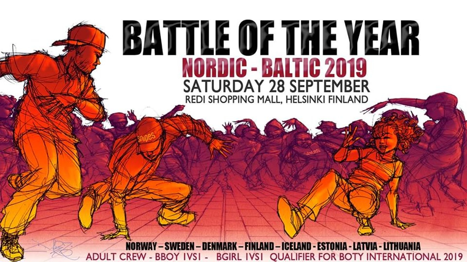 Battle Of The Year Nordic Baltic 2019 poster