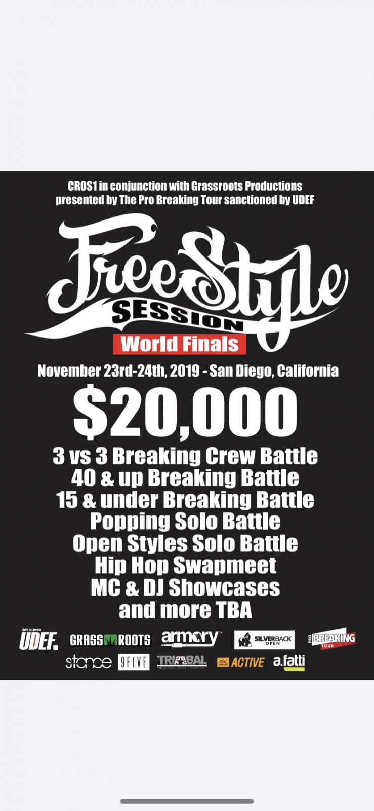 Freestyle Session World Finals 2019 poster