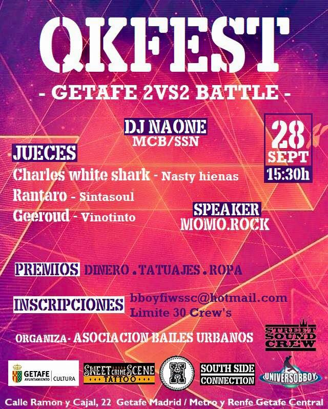 QKFEST Getafe 2vs2 Battle 2019 poster