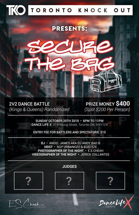 Toronto Knock Out Presents : Secure the BAG 2V2 ALL STYLE 2019 poster