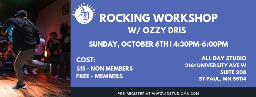 Rocking Workshop w Ozzy 2019 poster