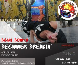 Free Climbing Day & Beginner Breakin' Workshop 2019