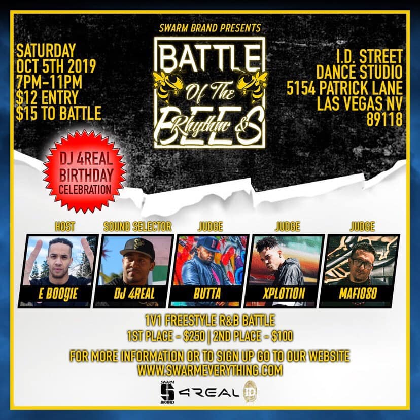 Battle of The R&Bees 2019 poster