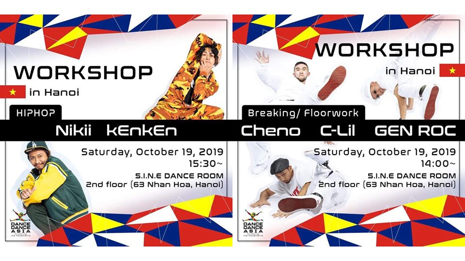 Dance Dance Asia 2019 - Hanoi workshop 2019 poster